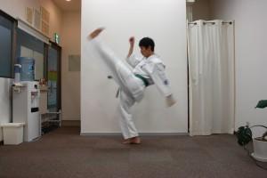 空手前蹴り6