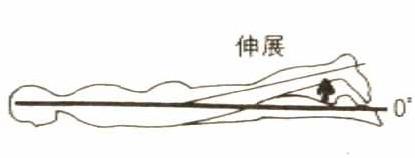 股関節の伸展動作の関節可動域