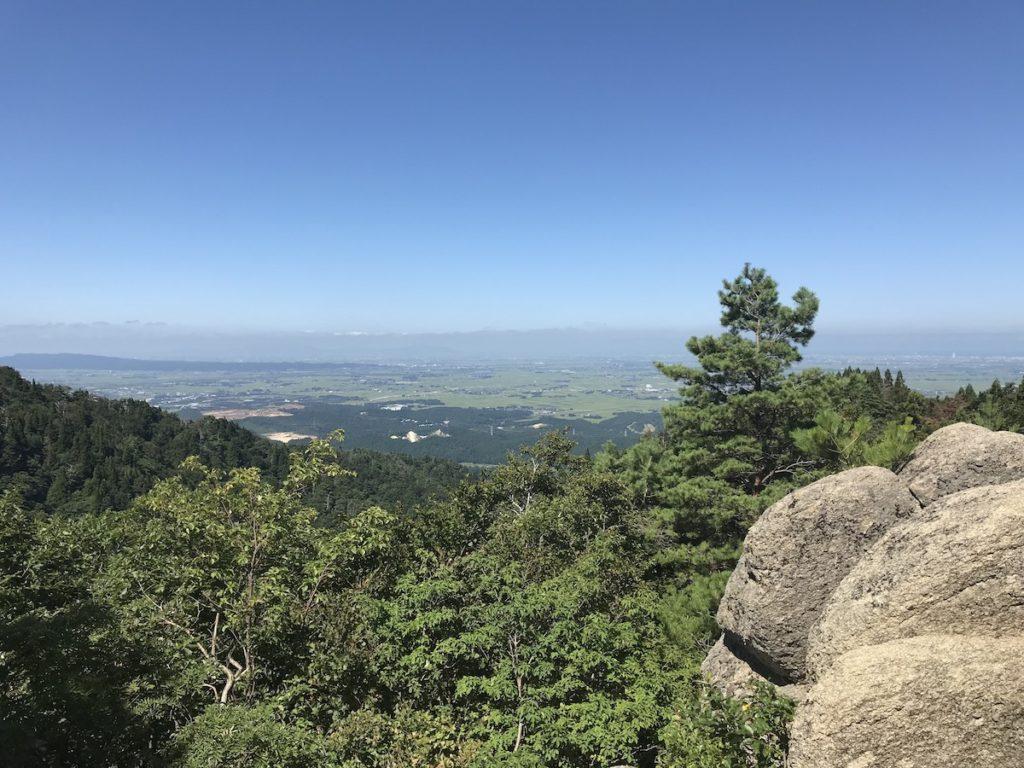 烏帽子岩からの景色