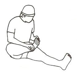足の甲のストレッチ