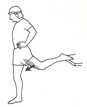 大腿直筋のストレッチ
